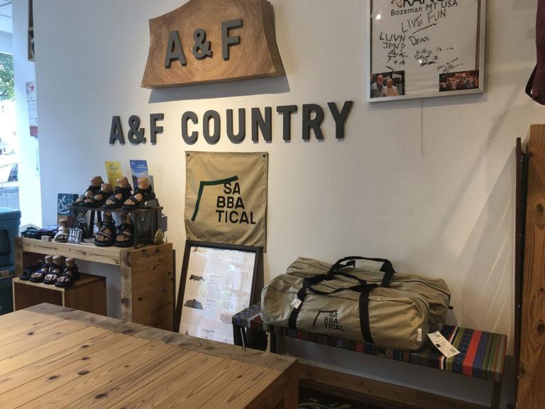 A&F本店 テント展示設営可能!
