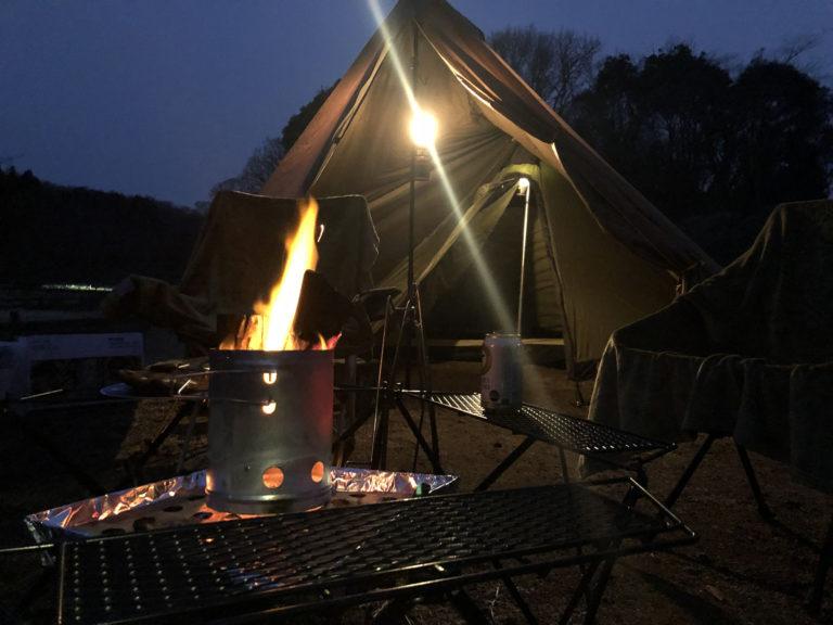 真冬キャンプ フォンテーヌの森