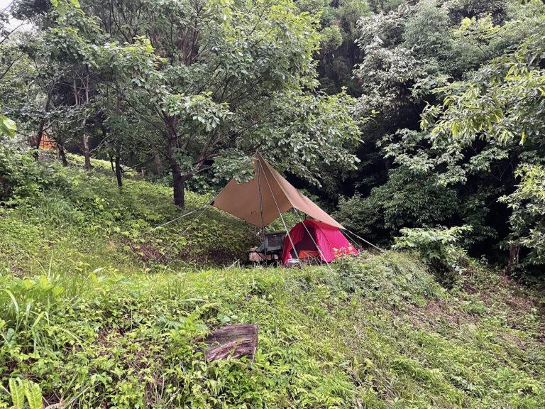 くりの木キャンプ場 2021 ソロ&雨