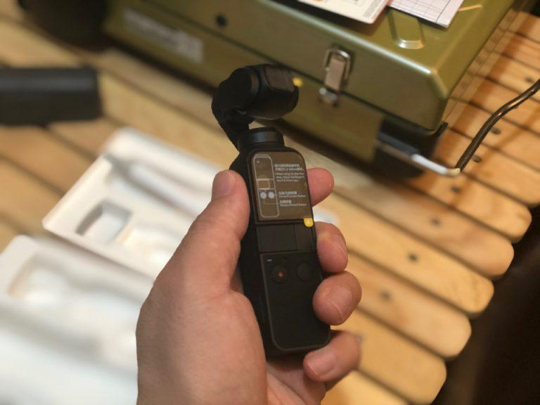超小型4Kジンバルカメラ dji osmo pocket!!!