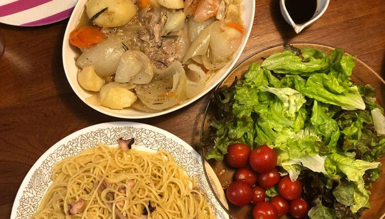 おうちキャンプ飯/豚のローズマリーロースト