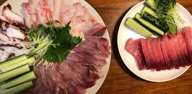 おうちキャンプ飯/手巻き寿司と家庭菜園