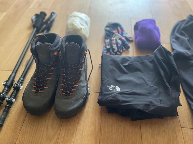 登山道具:整理&準備(1泊2日テント泊想定)